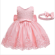 D0109 Baby Dress Pictures Ball Gowns Children Wedding Party Bridesmaid Sleeves Sleeves Evening Dresses Girls