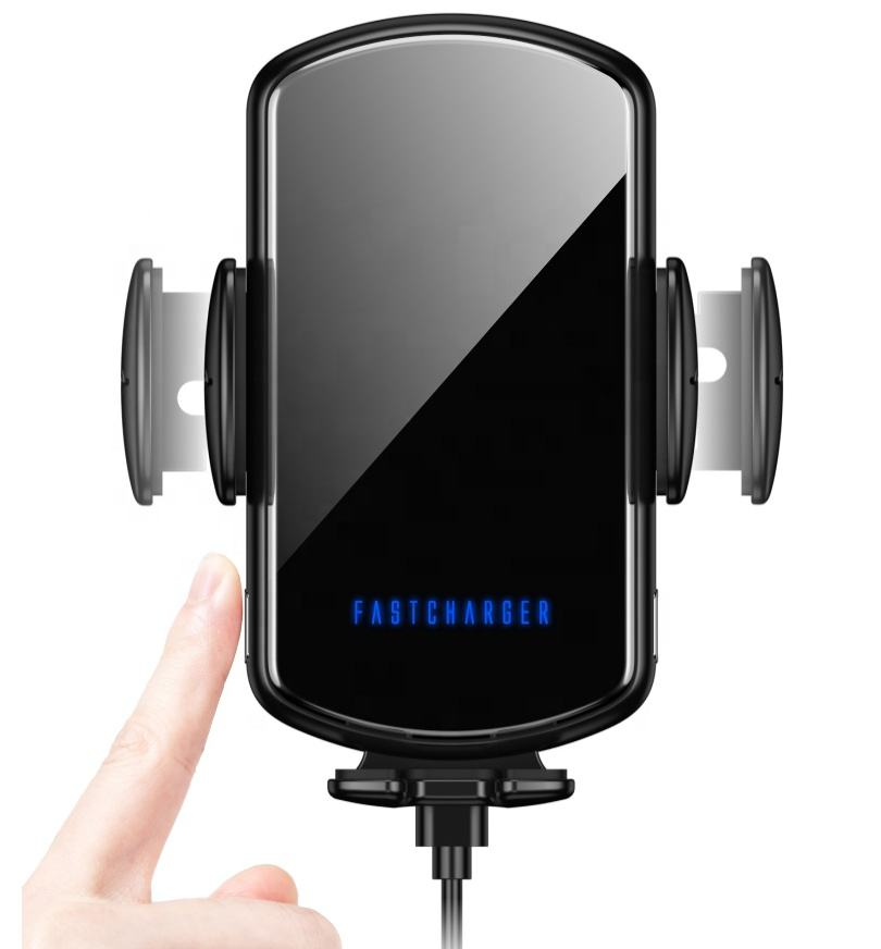 Automatic Fast Wireless Car Charger 15W For Iphone for Android Cell Phone Holder Sensor Fast Car Wireless Charger