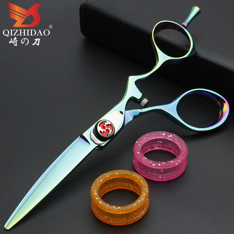 Germany Blue Elastic Paint Band Logo Professional Barber Scissors