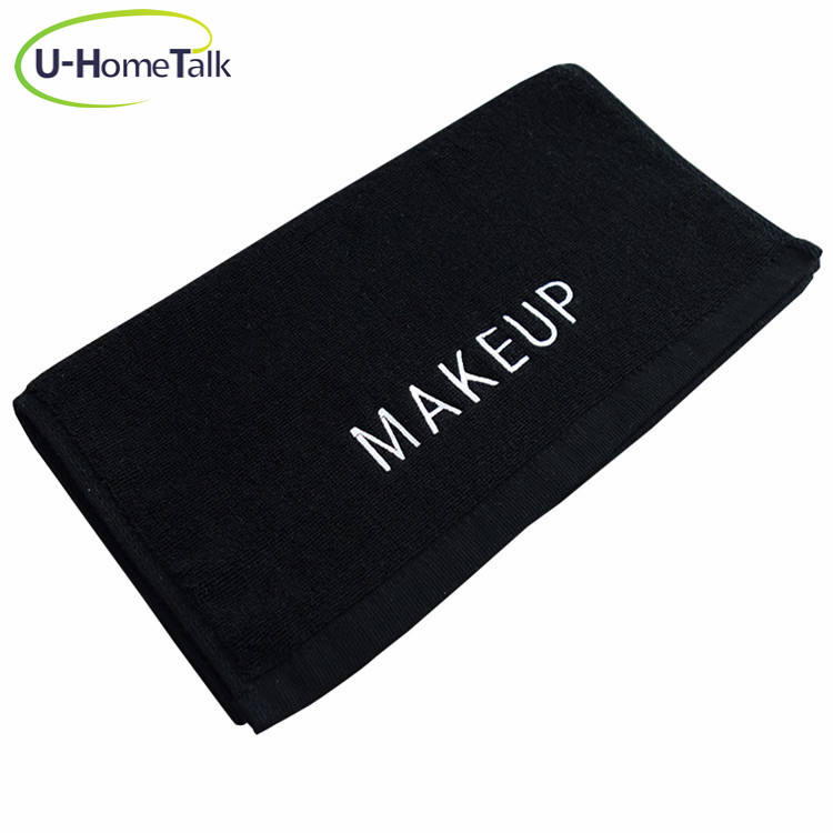 U-HomeTalk UT-TJ031 Black 100 Cotton Beauty Hair Drying Bleach Proof Salon Towel