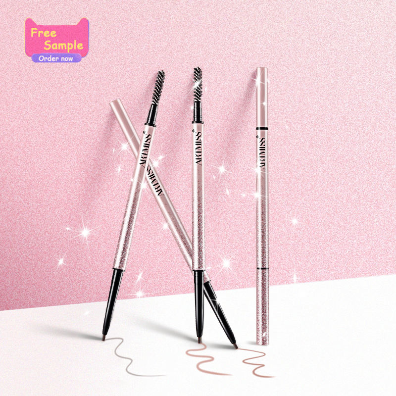 Wholesale Low MOQ New Waterproof Fine Eyebrow Pencil 3 Color private label Brow Pen Eyebrow Pencil