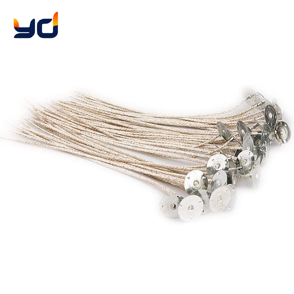 Scented Candle Soy Wax HTP Cotton Wicks with Braided Paper Fibers for Supplies Candle Making Accessories