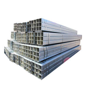 100x100 galvanized steel square tube supplier / hot dipped galvanized square pipe price list, pre gi rectangular steel tube