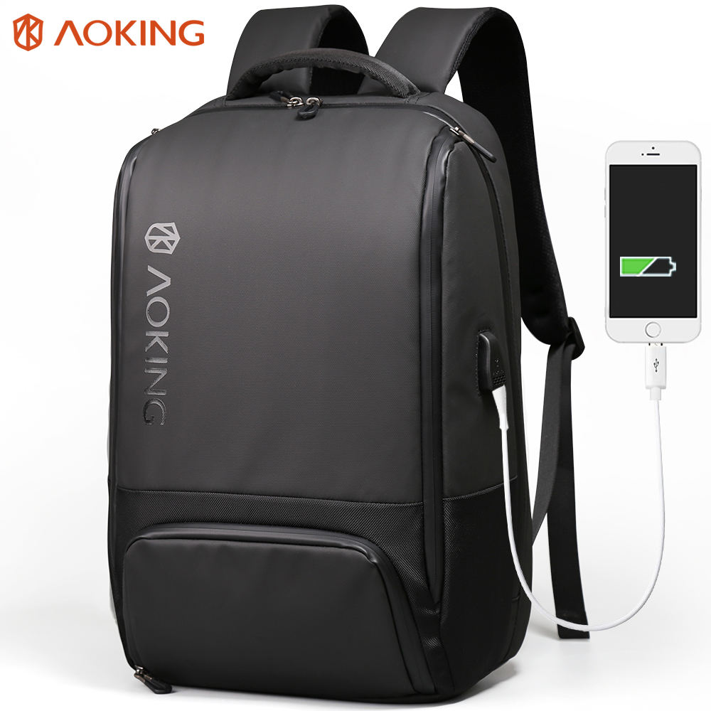 New arrival usb charging function urban smart business laptop backpack bag mochila laptop waterproof zippers and charger