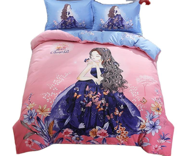 Home use polyester 3d children bedding sets wholesale bedding sets 3d baby kids Bed Sheet