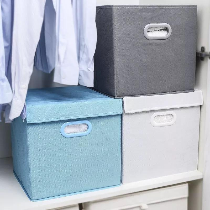 China Houseware Cheap Price Cardboard Foldable jewerly Nonwoven Fabric Container Storage Boxes