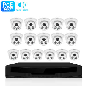 Loosafe 16 Dome Camera 1080P Video Surveillance CCTV Sistem 2 Megapixel Murah Dome Ip Kamera 16CH POE NVR Kit