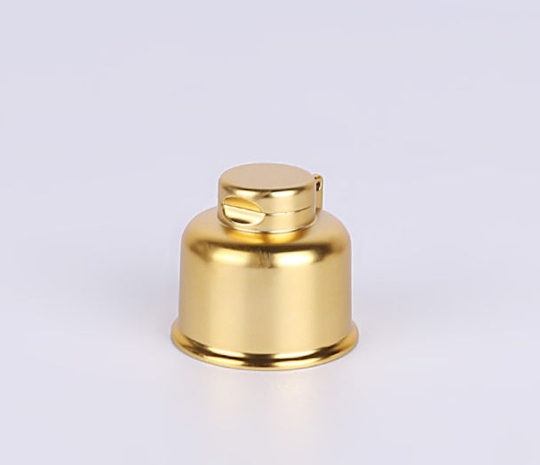 Gold UV 24/410 Cosmetic Plastic Screw Flip Top Cap For Lotion Shampoo Bottle