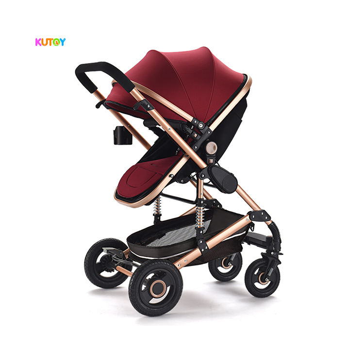 The Best Selling Taken Luxury 3 In 1 Baby Cart, Product Leather 3 In 1 Baby Trolley/