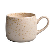 23oz 0.65L large stoneware solid color with spot glaze handgrip mug apricot coffee mug