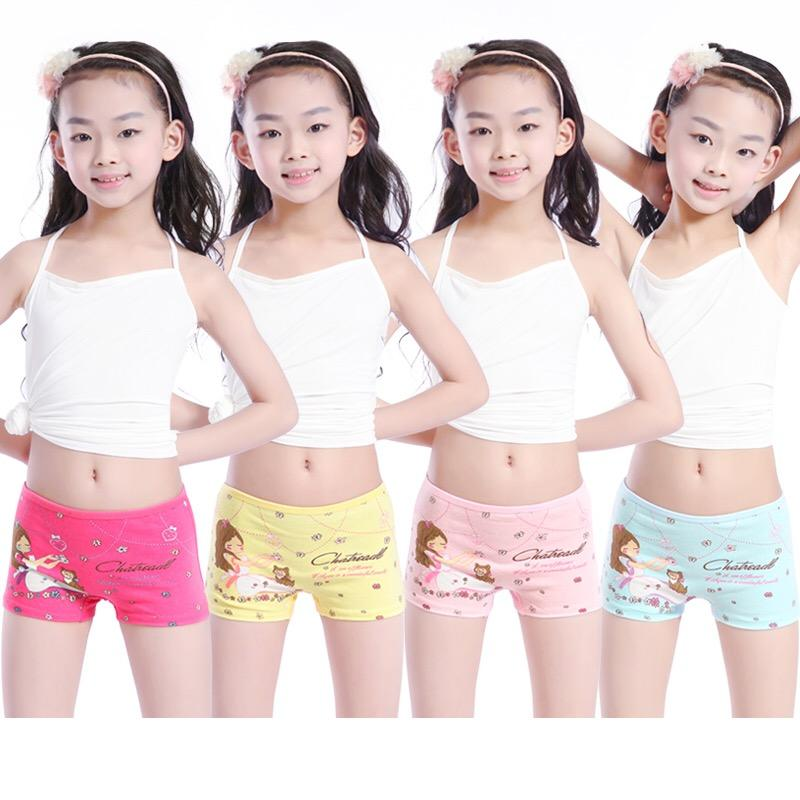 Wholesale 1-9 Years Children Girl Underwear Lovely Cartoon Printing Cotton Child Underwear Girl