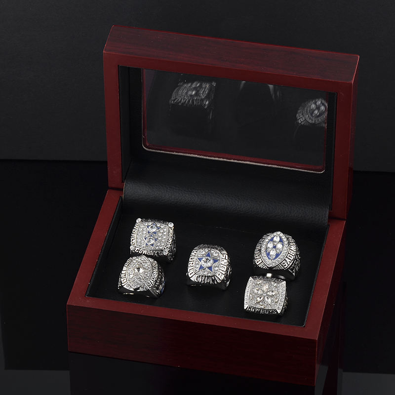 Steel mold nfl dallas cowboys gold champion rings set with carton