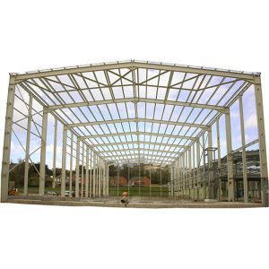 Long Span Light Weight Metal Steel Structures Roof Truss Shed Design For Warehouse
