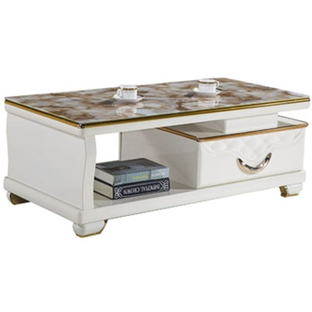 Hot sale modern design small mirrored sofa bed corner side table with drawer for livingroom