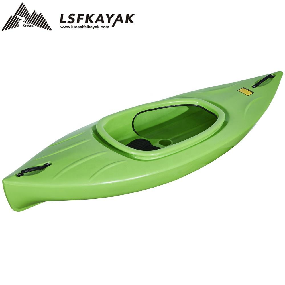 kayak single sit in with uv-protected one person plastic boat wholesale from Luosaifei