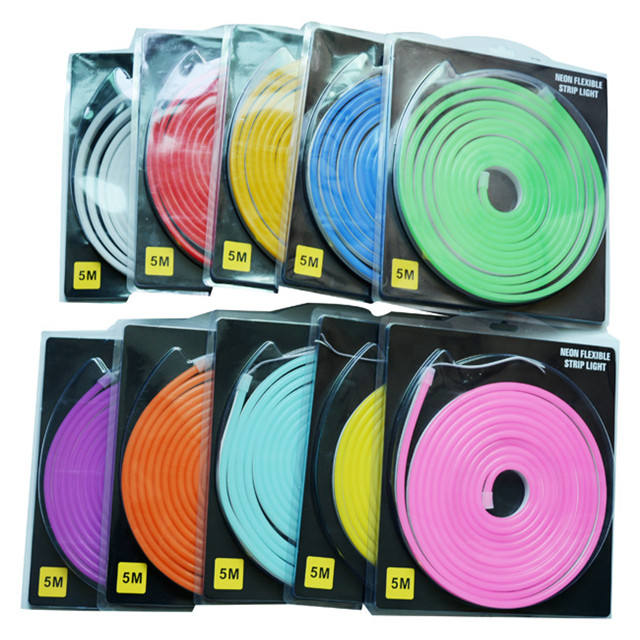 LED neon light DC12V 5meter/set 6mm Narrow Neon light waterproof Bar Light Round Led Neon flex string