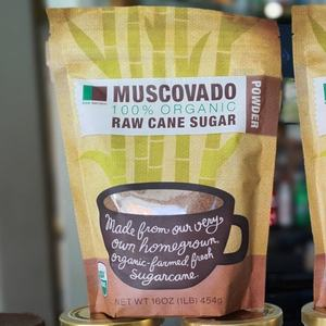 muscovado sugar also known as natural unrefined brown sugar / black sugar