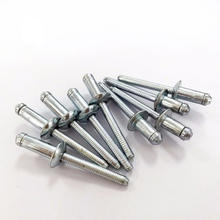 Blind Rivet Manufacturer Supply Colored  And Sliver DIN7337 Open Type Domed Head Aluminium Blind Pop Rivets