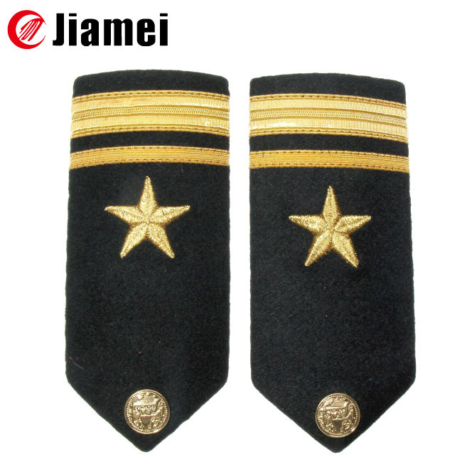 Woven Security Epaulette Slider Black Epaulettes With Gold Embroidery Slides