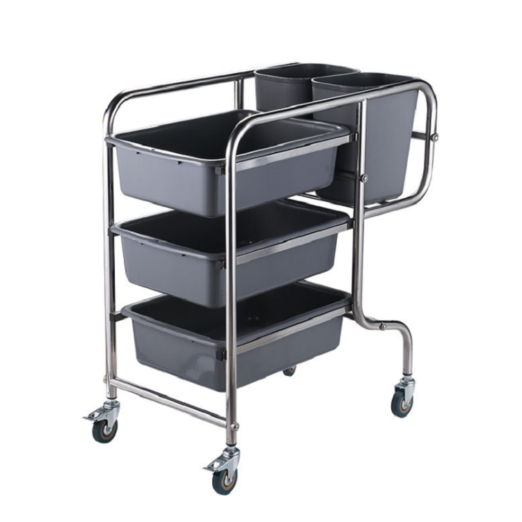 NEW Durable Dish Collecting Cart Hotel Serving Cleaning Trolley Wholesale