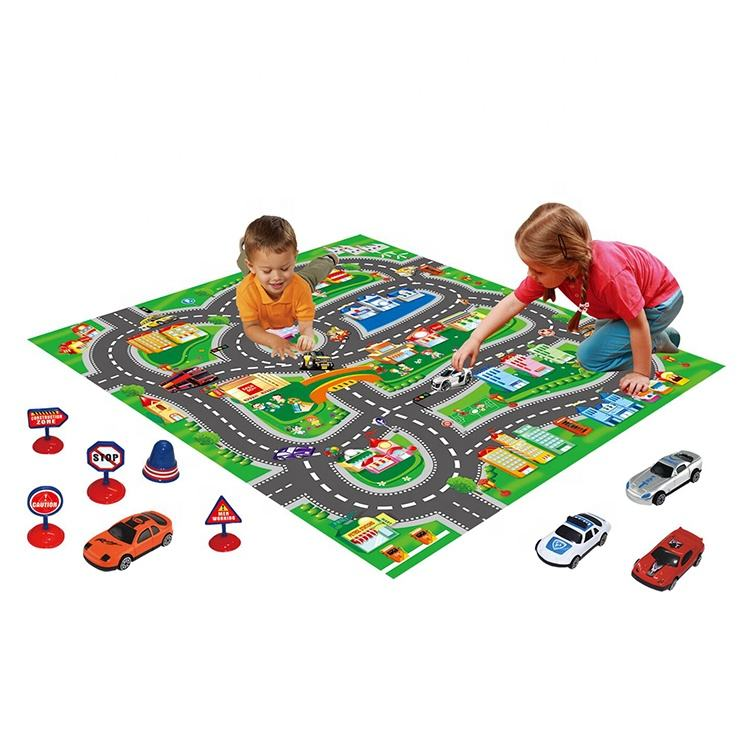 TOM'S ROLEPLAY Educational game Traffic City Town Road Car Kids Developing Play Mat for children