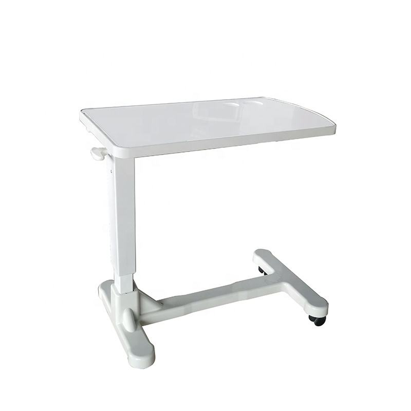 ABS Movable Dining Table Over Bed Tray Table Hospital Movable Table