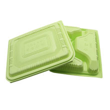 customize clam shell packaging compartments tray fast food plastic box clamshell