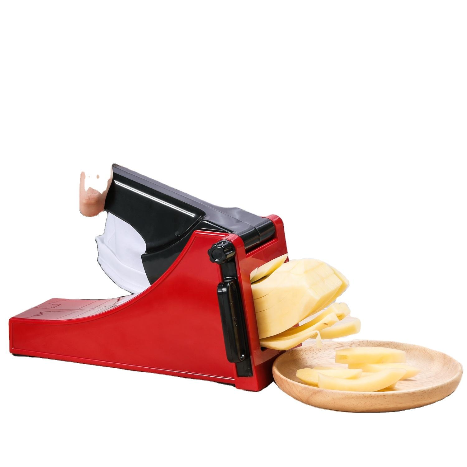 Easy to clean plastic manual potato cutter