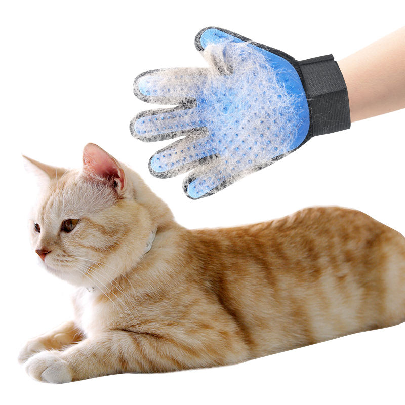 Amazon Best Sell Glove Grooming Brush Gloves Hair Remover Dog Bath Deshedding Pet grooming gloves