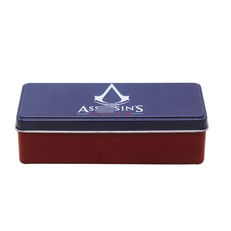 perfume packaging metal tin box Rectangle shape gift tin box for perfume packaging
