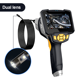 Camera 8MM 1m Semi-rigid Dual Camera Borescope 720P LCD Industrial Endoscope Camera With Front-View And Side-View Dual Camera