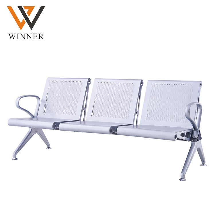 reception modern customer waiting chairs Customizable seat link lounge chair 3 seater airport chair