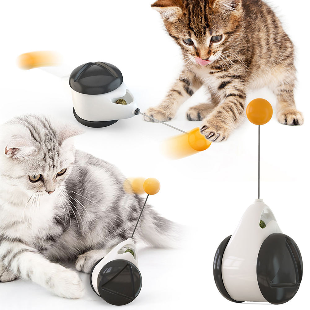 Interactive Cat Toys with Catnip Balance Swing Cat Wand Pets Exercise Chase Play Cat Toy for Kitty Kitten