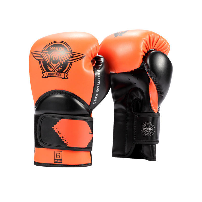 Custom Printed Pu Boxing Gloves Leather