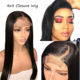 Lace Wig Wigs Cuticle Aligned Lace Wigs 130% 150% 180% Wholesale 4x4 Lace Closure Wig Vendors 100%Aligned Cuticle Wig 4x4 Closure Natural Straight Human Hair Wigs