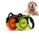 New style wholesale custom print logo pet retractable reflective dog nylon 16ft leash for running