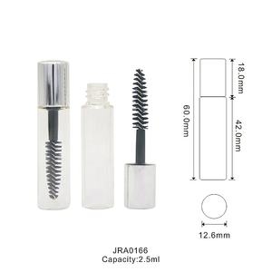 2,5 ml nach mascara container verpackung kristall runde leere mascara rohr private label mascara flasche mit pinsel