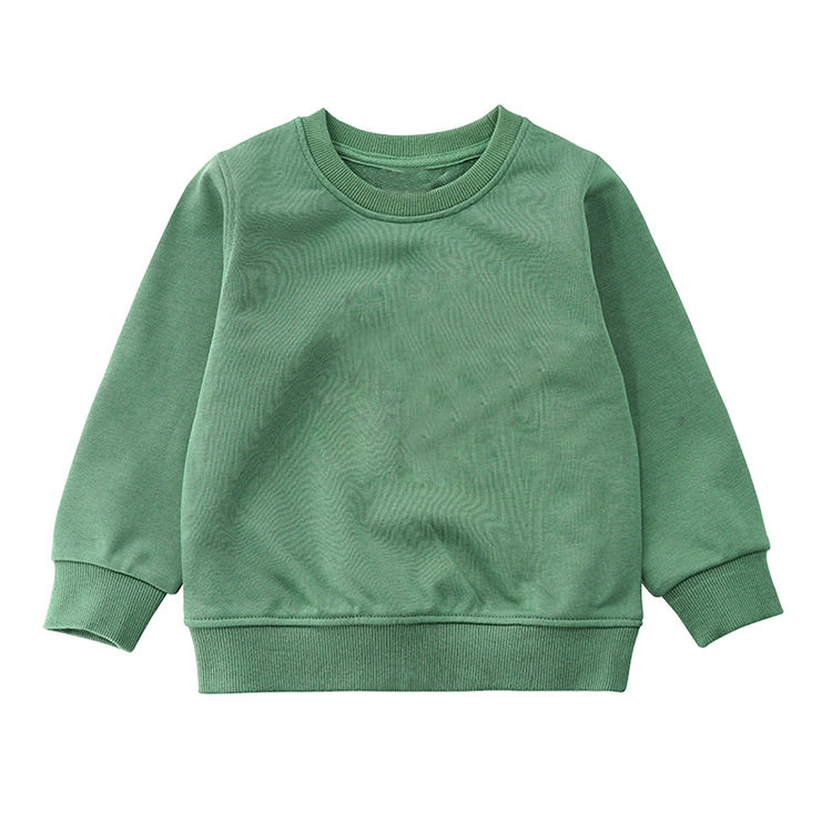 wholesale fall boutique outfit baby clothes cotton crewneck sweatshirt baby jumpers