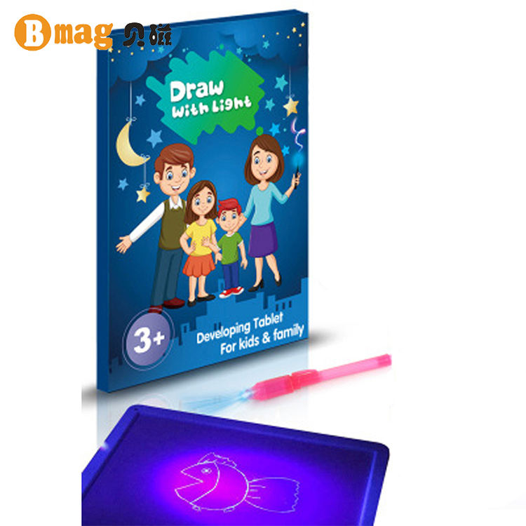 Light In Dark Children Education Toy Noctilucent Pen Writing Paint Set Toy Magic A4 Night Drawing Board
