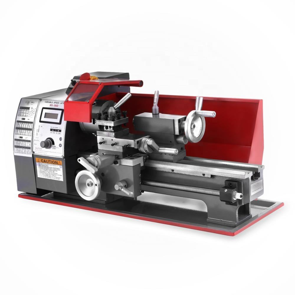 600W Mini Metal Turning Lathe Woodworking Tool DIY Processing Digital Milling Lathe Machine
