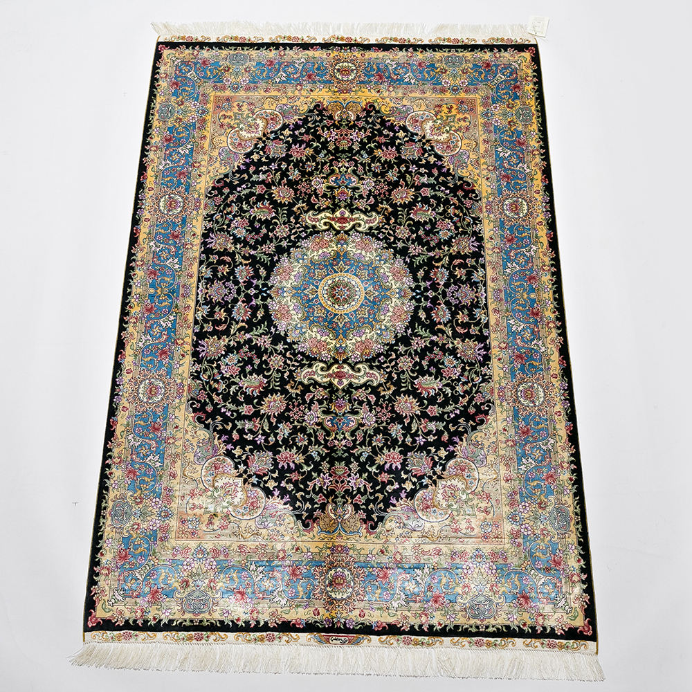 Beautiful Antique Hand Knotted Persian-Sarouk Carpet Rug, Floral Hand Knotted Carpet/