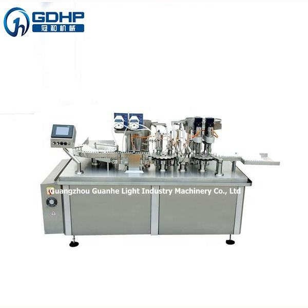Automatic Small Bottle Vial Liquid Filling & Capping Labeling Machine