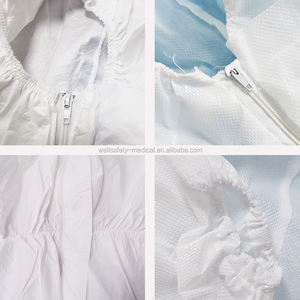 Waterproof coveralls with hood pp pe nonwoven fabric 50 60 gsm dupont tyvek coverall 400 500 600 disposable waterproof uniforms