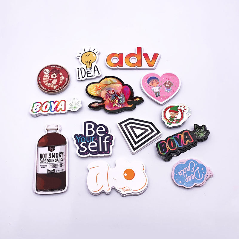 Individual Custom UV Protection Waterproof Die Cut Stickers, Adhesive Permanent Vinyl Label Stickers