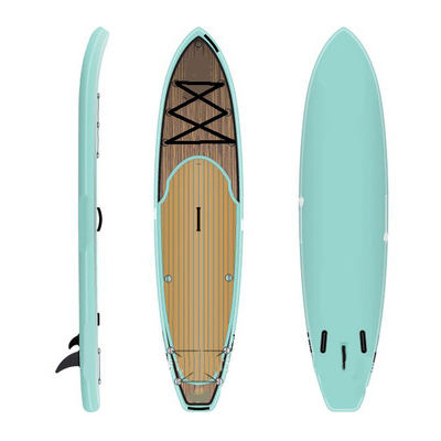 High Quality Inflatable Drop Stitch Surfing Board SUP Paddle Board bamboo sup
