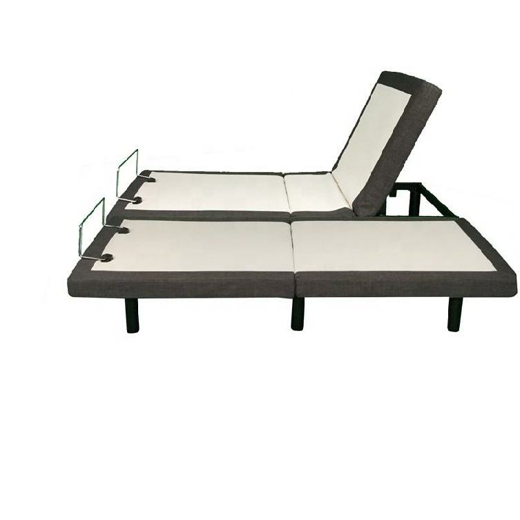 Split King Adjustable bed base with Wireless Remote Head and Foot Incline and No Tools Required Assembly
