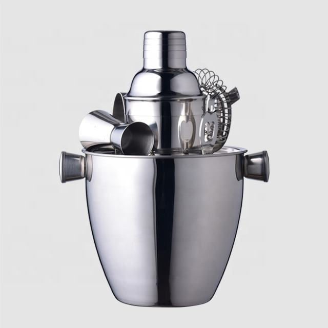 Factory Direct stainless steel barware set with 350ml mini cocktail shakers