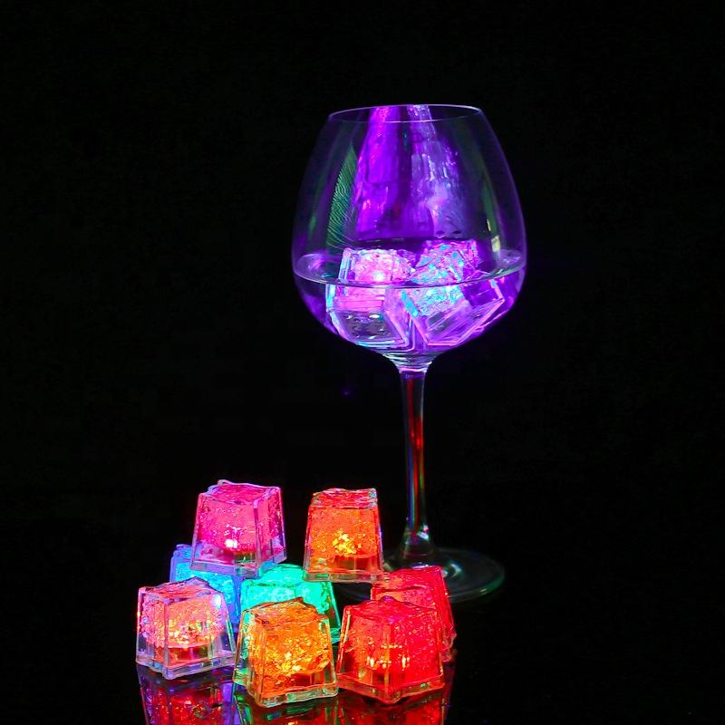 Color Changing Novelty LED Glow Ice Cubes, Cup Light , Wedding Party Decoration Lights
