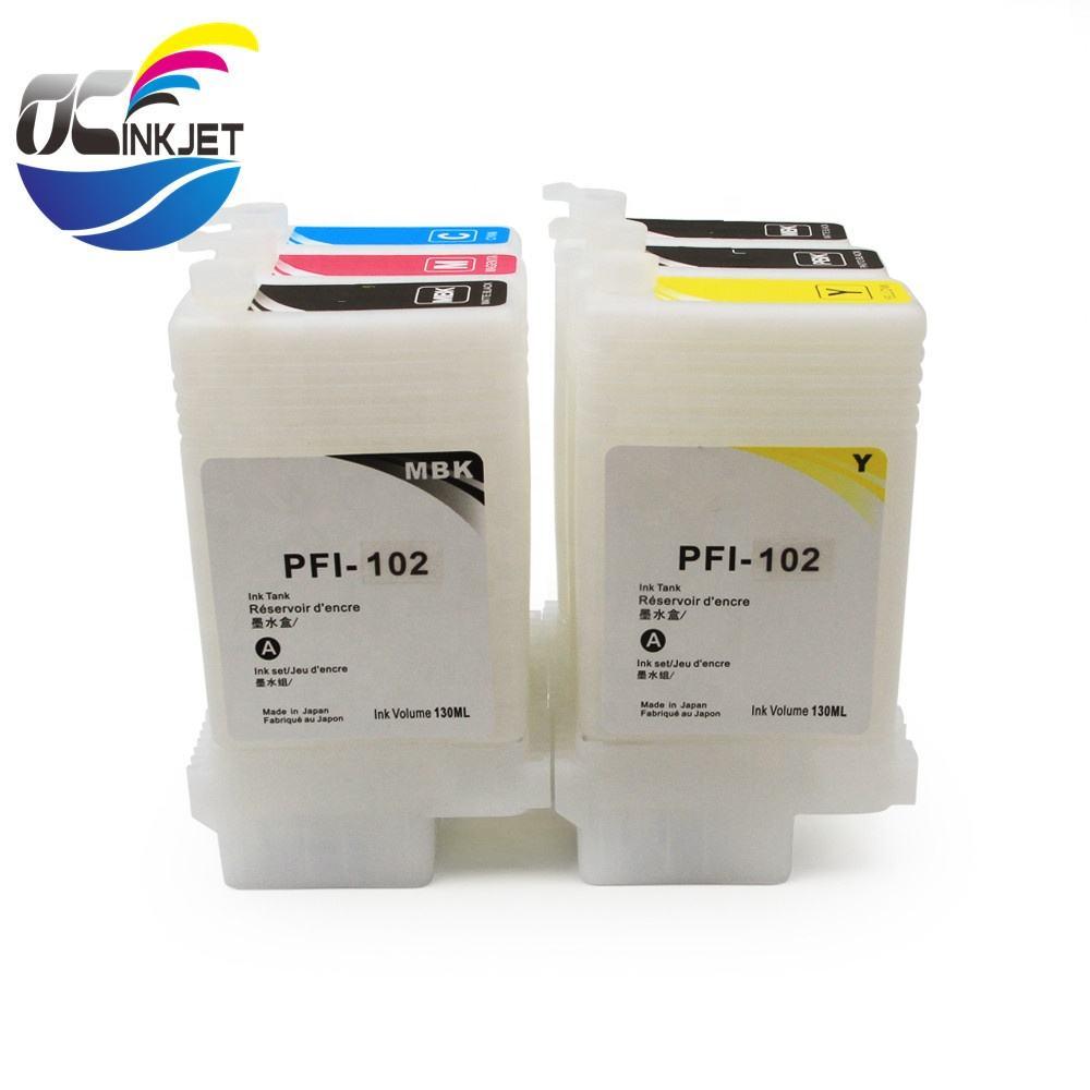 6 Compatible Canon ipf 650 655 750 755 760 765 PFI-102 pfi 104 INK imagePROGRAF