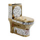Luxury Toilet Toilet Toilet Chinese Luxury Gold Color Toilet S-trap Floor Mounted Toilet Set